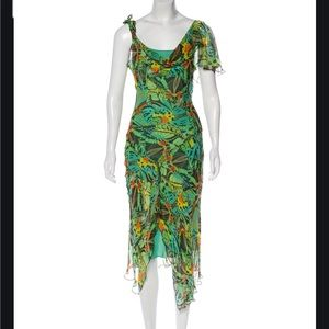 DVF butterfly wings printed dress.